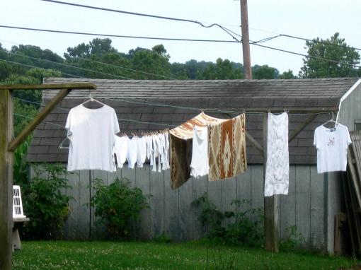 Hanging whites